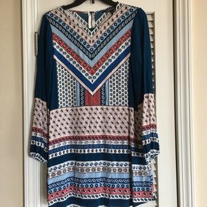 Express Dress Long Sleeve Multicolor SZ S